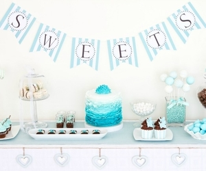 blue baby shower and boys baby shower ideas image