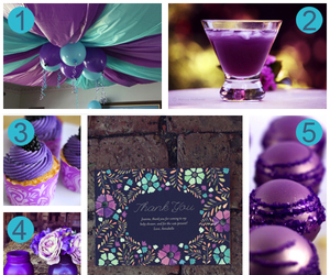 colorful, purple, and baby shower ideas image