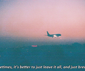 airplane, happiness, and leave image