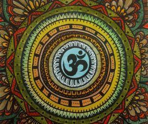 mandala, art, and om image