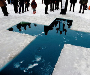 cross, winter, and christians image