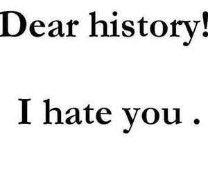 dear, hate, and history image