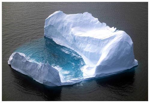ice, iceberg, and grunge image