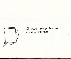 coffee, text, and morning image