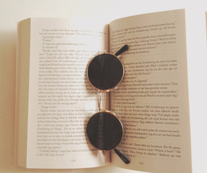 book and sunglasses image