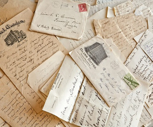 vintage, letters, and old image