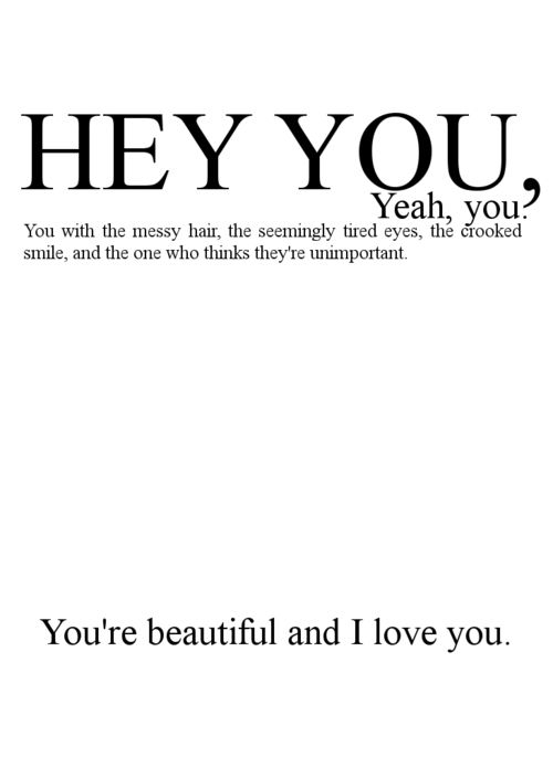 You\'re beautiful ok? shared by Queen B on We Heart It