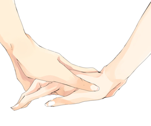 anime, hands, and holding hands image