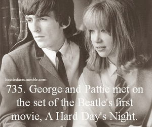 fabfour, george harrison, and pattie boyd image