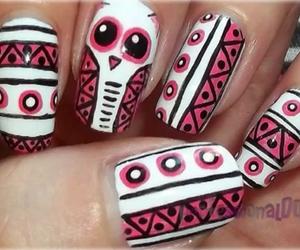 nails, owl, and fashion image