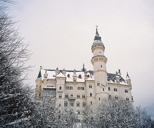 snow, winter, and castle image