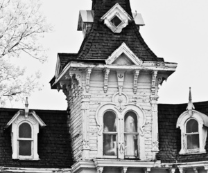 house, black and white, and ghost image