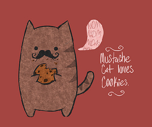 adorable, mustasche, and cats image
