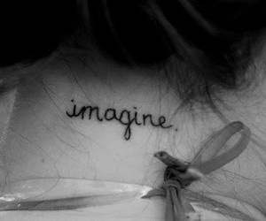 tattoo, imagine, and black and white image
