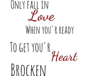 fall in love, heart, and quote image