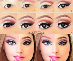 barbie, make up, and makeup image