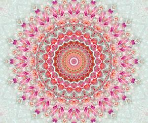 wallpaper, mandala, and colors image