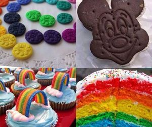 cake, colorful, and Cookies image