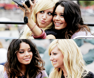 ashley tisdale, vanessa hudgens, and friends image