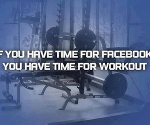 workout, facebook, and fitness image