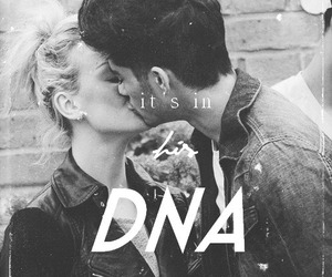 zayn malik, perrie edwards, and DNA image