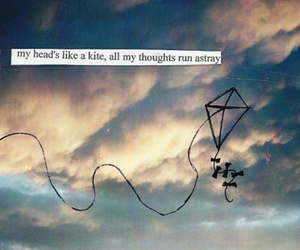kite, thoughts, and quote image