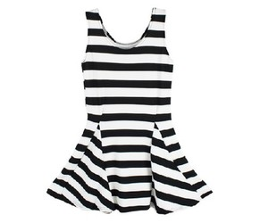 dresses, fashion, and stripes image