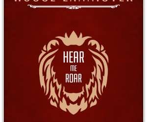 Houses, roar, and lannister image