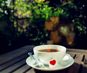 cup, spoon, and hearts image