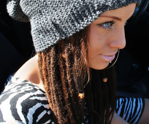 girl, dreads, and blue eyes image