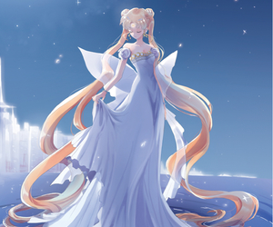 sailor moon, anime, and princess serenity image