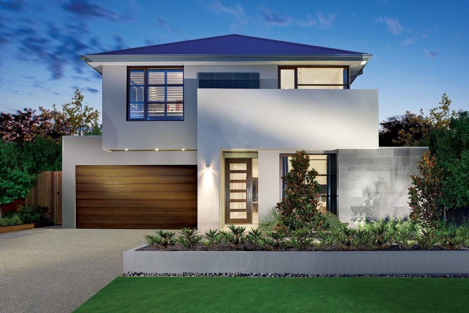 Luxurious Front Yard Design Of Modern House Plans With ...