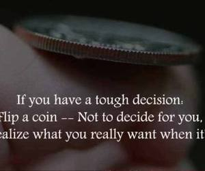coin, decision, and life image