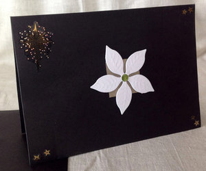 card, handmade, and white flower image