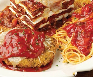 Chicken, food, and spaghetti image