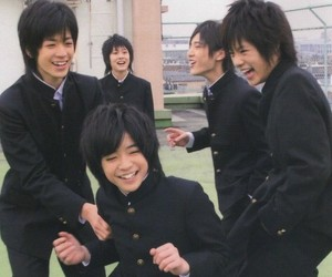 boys, japan, and school image