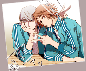 anime, brown hair, and gray hair image