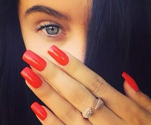 nails, red, and eyes image