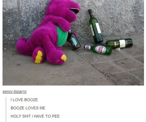 funny, barney, and alcohol image