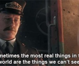 quote, the polar express, and christmas image