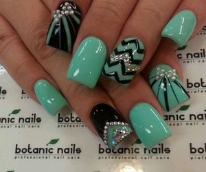 nails, black, and green image