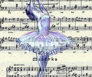 drawing and music art ballet image