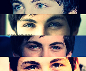logan lerman, eyes, and blue image