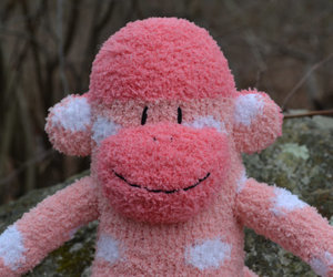 blue sock monkey, sock monkey doll, and Sock Monkey image