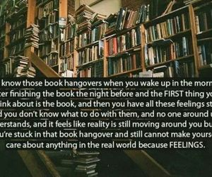 book, feelings, and hangover image
