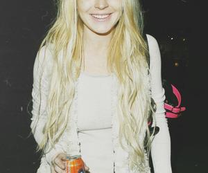 lindsay lohan, blonde, and smile image