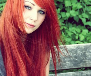 beauty, girl, and red hair image