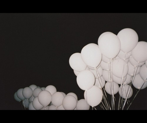 balloons, black and white, and black image