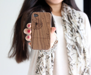 case, girl, and wooden image
