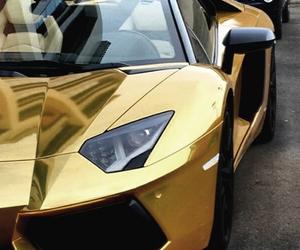 gold, car, and Lamborghini image